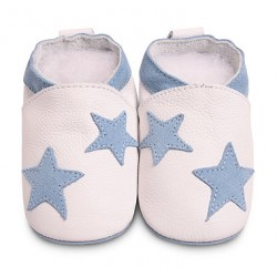 Shoes - Clearance  - White blue stars - 0-6m