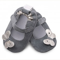 Shoes - Clearance - Silver Butterfly  - SALE -  18-24m last one