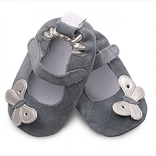 Shoo shoes - Silver Butterfly  - SALE -  18-24m