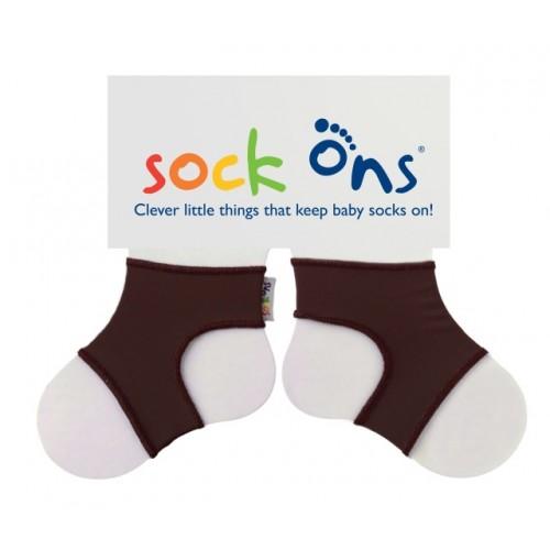 Sock Ons - Chocolate brown - 0-6m, 6-12m,