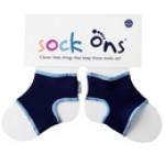 Sock Ons - Navy - 0-6m