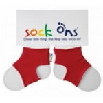 Sock Ons - Red - 0-6, 6-12m