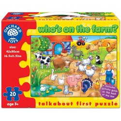Toy - Orchard Toys - Who is on the Farm - puzzle - 5x left