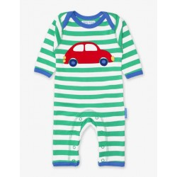 Babygrow - Toby Tiger - Organic  Applique Romper Sleepsuit - Car- sale