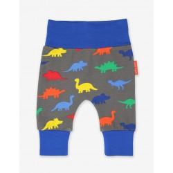 Trousers - Toby Tiger - Organic Yoga Pants  - Dinosaur Print  - 0-3m -  sale