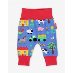 Trousers - Toby Tiger - Organic Yoga Pants - Farm Print - Sale