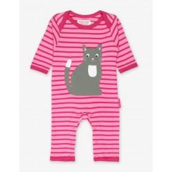 Babygrow - Toby Tiger - Organic  Applique Romper Sleepsuit - Kitten Cat- sale