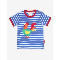 Top - Toby Tiger  - Organic Short Sleeve T-Shirt  -  farm Cockerel   - sale