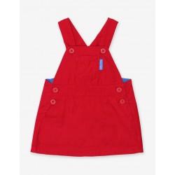 Dress - Toby Tiger - Organic - Red Corduroy Dungaree Dress