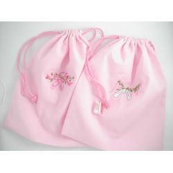 Bag -  BALLET - Cotton  with embroidered  ballet shoes -  1x supplied sale