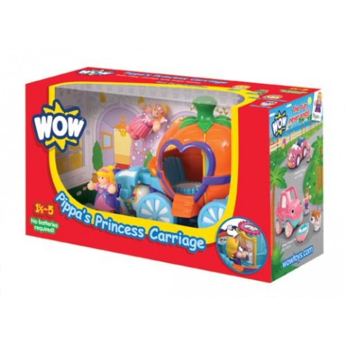 WOW Toys - Pippa's Princess Carriage (colour may vary ie pink or orange carriage)