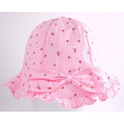 Hat - Baby girls - Sun hat Strawberry in pink - 48m (x2) , 50cm (2x), 52cm (2x) - sale -  (12m, 18m, 2y)