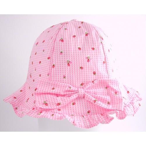 Hat - Baby girls - Sun hat Strawberry in pink - 48m (x2) , 50cm (2x), 52cm (2x) - sale -  (12m, 18m, 2y)