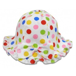 Hat - Baby girls - Sun hat Candy spot - 48m (1x) , 50cm (1x), 52cm (2x) - sale -  (12m, 18m, 2y)