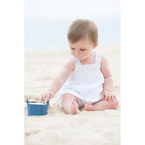 Set - Frugi Baby Girls -  Bonny White Ruffle -  0-3 , 3-6, 6-12  - sale