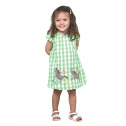 Dress - Frugi fresh grass gingham- in SALE - 6-12m