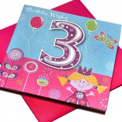 Gift - Card - Happy Birthday - 3 - Girl