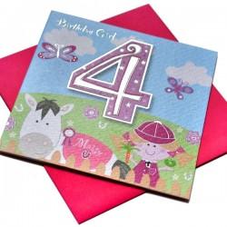 Gift - Card - Happy Birthday - 4 - Girl