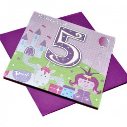 Gift - Card - Happy Birthday - 5 - Girl