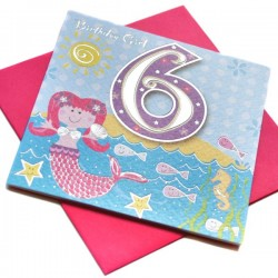 Gift - Card - Happy Birthday - 6 - Girl