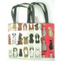 Bag - Kids shoppers  bag with cats or dog print -matching purses.wash bags also available
