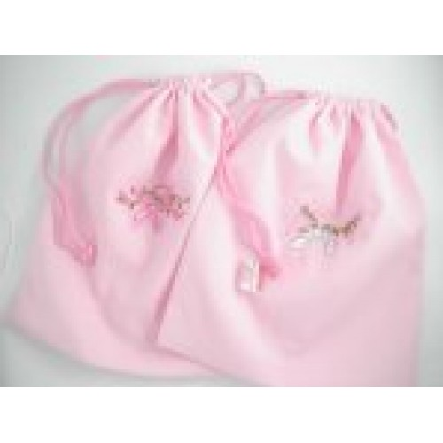 Bag - Cotton lined pink ballet shoes