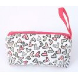 Bag - Cosmetic bag Heart print