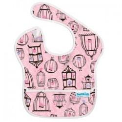Bib - Pink Birdcages