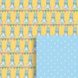Gift - Wrapping Paper - Reversible - Bunny Baby