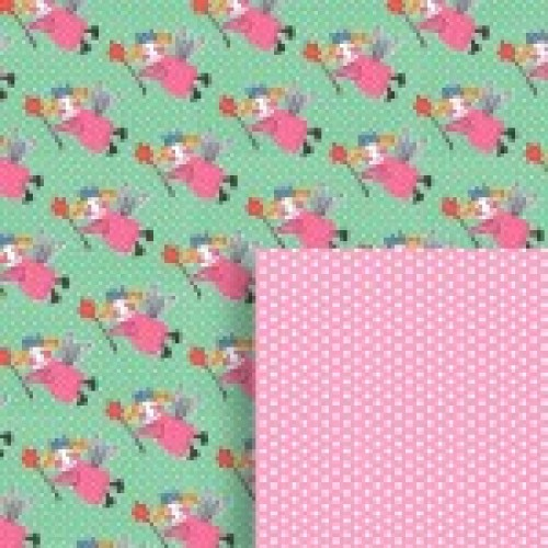 Gift - Wrapping Paper - Reversible - Sugar Plum Fairy