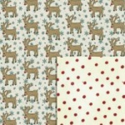 Gift - Wrapping Paper - Reversible - Rudolph