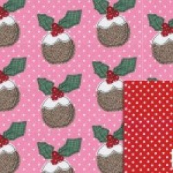 Gift - Wrapping Paper - Reversible - Pudding Wrap