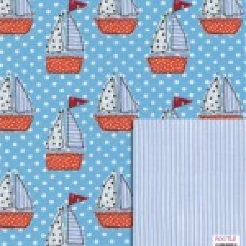 Gift - Wrapping Paper - Reversible - Boat Wrap