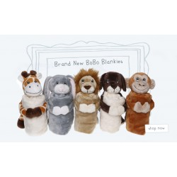 Blankies - Dog, monkey, bunny, lion , giraffe