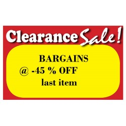 BARGAINS - 45% off LAST ITEM in CLEARANCE SALE