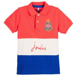 Top - Joules Boys Harry - Red Pique polo 3-4, 5-6, 7-8