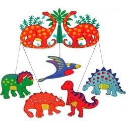 Mobile - Lanka Kade - Wooden Mobile - Dinosaurs - sale