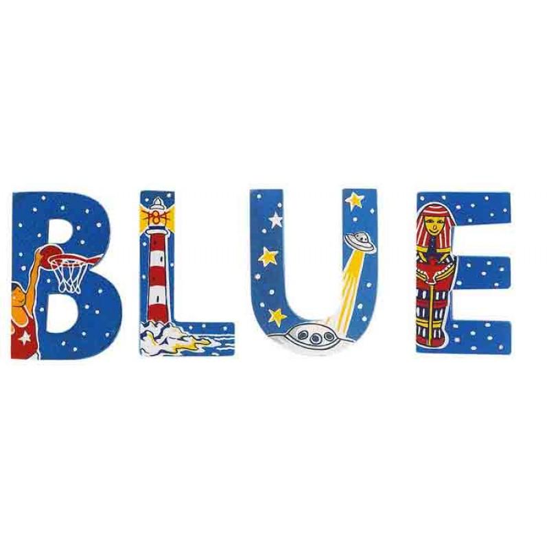 Letters - Blue