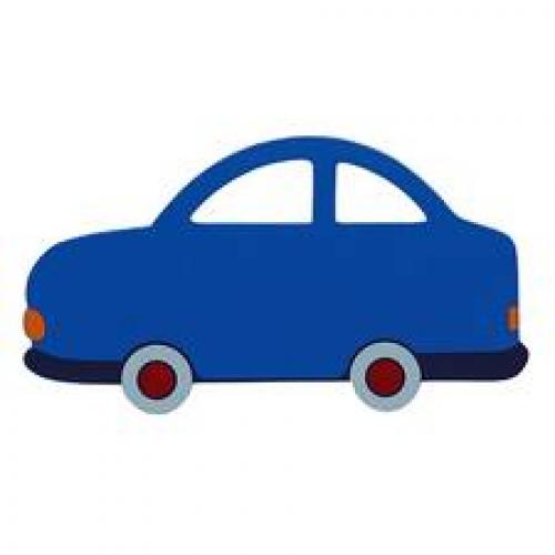 PLAQUE - Fair Trade BLUE car Name Plaque