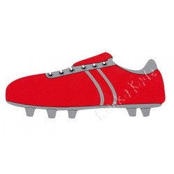 PLAQUE - Fair Trade Long Red Football Boot Name Plaque
