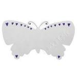 PLAQUE - Fair Trade - Lanka Kade  - Silver Butterfly Name Plaque