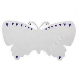 PLAQUE - Fair Trade Silver Butterfly Name Plaque