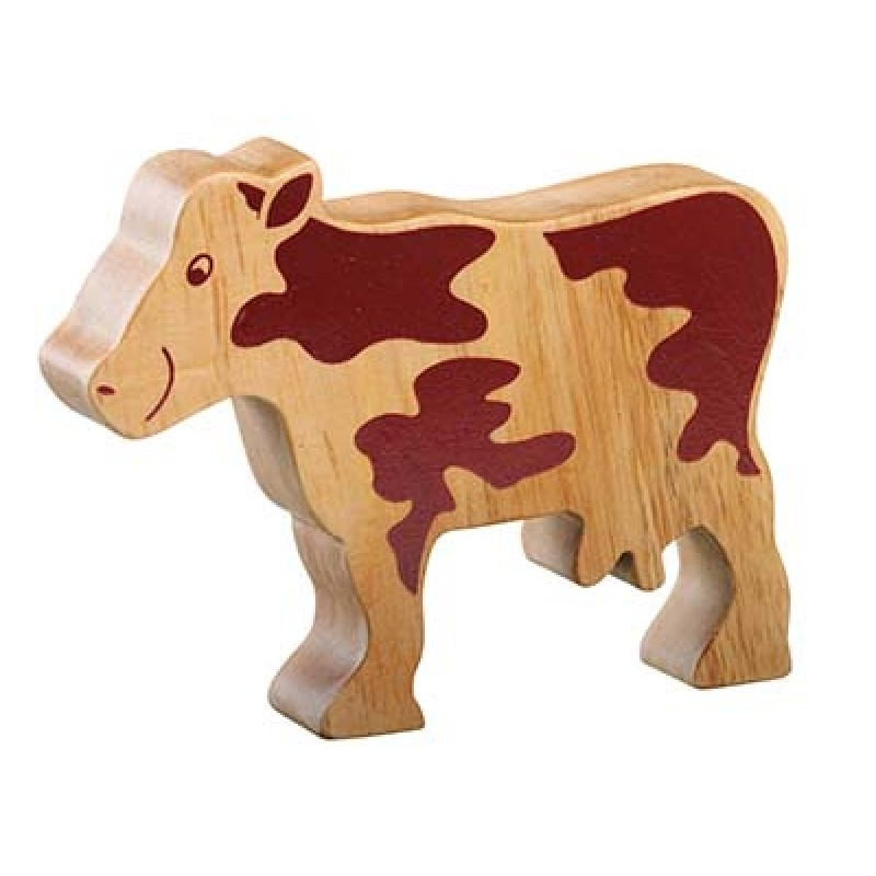 Toy Natural Wood Cow