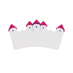 Plaque - Long White and Pink Castle Name Plaque - sale