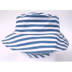 Hat - Flap Happy - Crusher -Hampton stripe - UPF50+ - large 1-2y, xl 2-4y