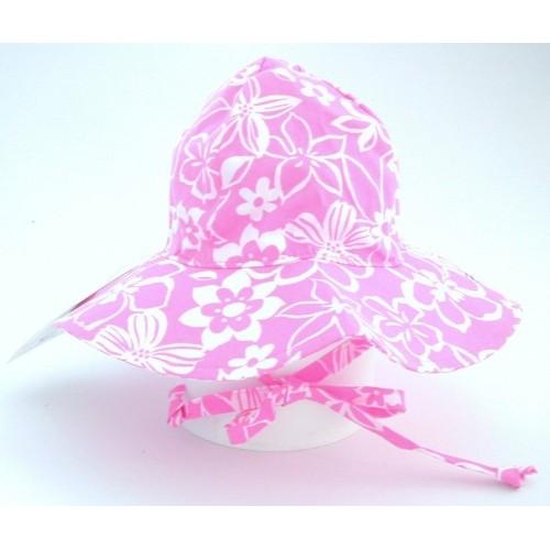 Hat - Flap Hat - Sunhat UPF50 - Hula Hibiscus - medium 6-12m