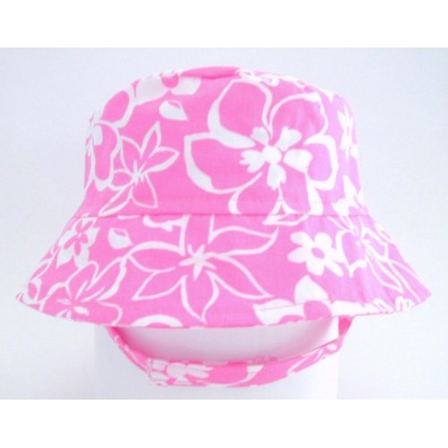 Hat - Flap Happy - Crusher Hula Hibiscus  UPF50+  - large 1-2y, last one in sale