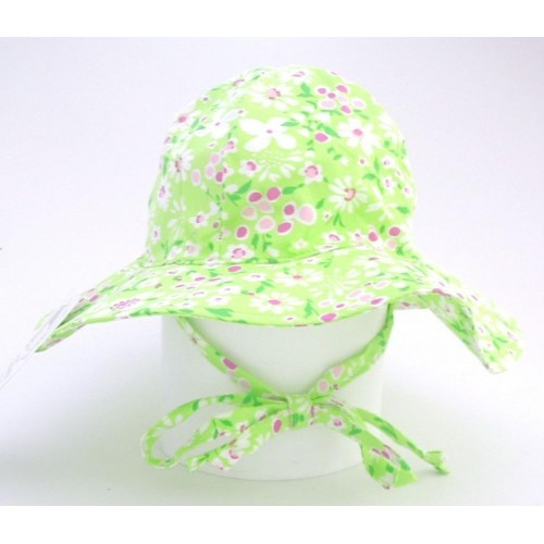 Hat - Flappy Happy -_ Sunhat UPF 50 - Spring Garden - small 0-6m